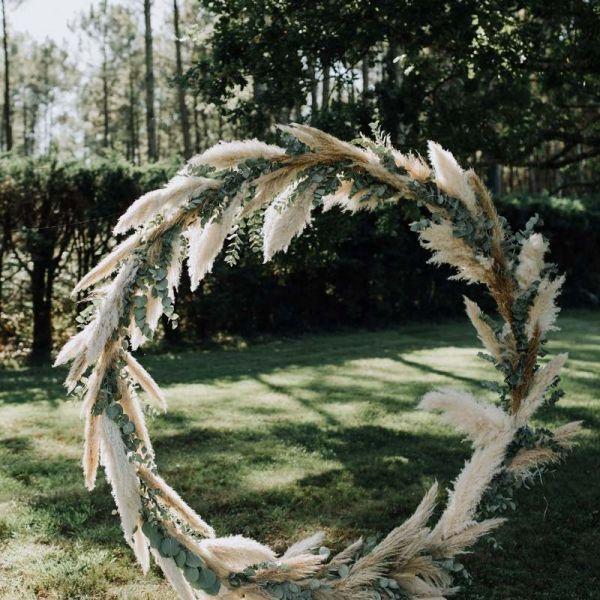 Arche ronde, décoration de mariage