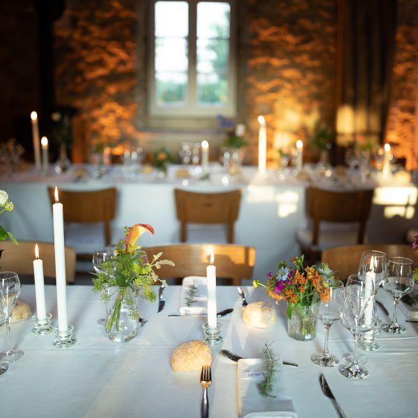 Décoration de mariage, art de la table, Château d'Orion, Landes