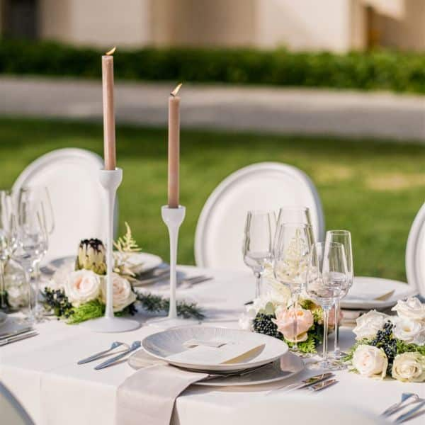 Décoratrice de mariage, art de la table